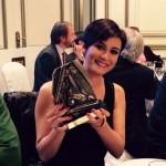La diputada socialista Isabel Rodríguez es galardonada con el premio «Diputada revelación del año» de los periodistas parlamentarios