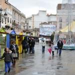 Ciudad Real: Abre el mercadillo navideño y se pone a llover