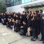 Sonora pitada de los trabajadores de RTVCM en rechazo a la «manipulación informativa»