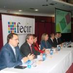 El director general de Globalcaja, Pedro Palacios, destaca el apoyo de la entidad a FECIR