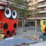 Bichos gigantes en la Plaza Constitución de Puertollano: el parque infantil costará 30.136 euros