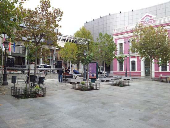 La Plaza de la Constitución alberga algunos plataneros