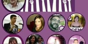 Cartel de candidaturas de Podemos Puertollano