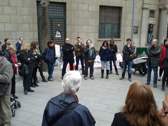 Concentración de la CASCR en la Plaza Cervantes