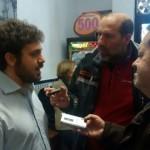La candidatura de Jorge Fernández coge fuerzas en un bar de barrio para afrontar la recta final de la campaña