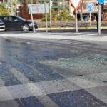 Ciudad Real: Una ambulancia colisiona con un turismo en una salida de la rotonda del Quijote Azteca