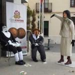 Cerca de una veintena de peleles en Calzada, en el divertido manteo de inicio de su carnaval