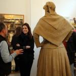 Rosa Romero, cara a cara con la Dulcinea que esculpe López-Arza