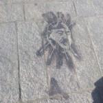 Puertollano: El Ayuntamiento borra una pintada con el rostro de Franco «en cumplimiento de la Ley de Memoria Histórica»