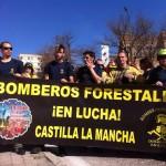 Retenes de la provincia y trabajadores de incendios forestales de Castilla-La Mancha, presentes en la «marea de fuego» sobre Madrid