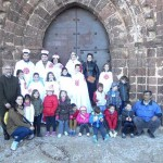 """Alumnos de Aldea del Rey visitan el castillo de Calatrava la Nueva dentro de su participación en el concurso regional """"Herodoto"""""""