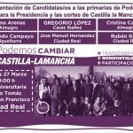 Gregorio López Sanz y la lista Podemos Cambiar Castilla-La Mancha se presentan este viernes en Ciudad Real