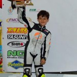 Argamasilla de Calatrava: El niño García Almansa se sube al podio en una de las carreras del campeonato nacional de minimotos