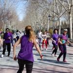 Zumba feminista: Un grupo de mujeres celebra el 8 de marzo a otro ritmo