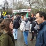 Goyo López Sanz y Podemos Cambiar CLM inician la campaña de primarias en Talavera y se unen a Las Marchas de la Dignidad