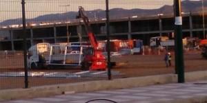 Escenario del accidente, minutos después del suceso