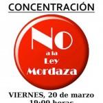 Puertollano: Convocan una concentración contra la «ley mordaza» frente a la sede del PP