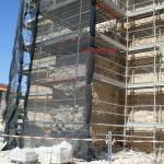 Los muretes laterales de la Puerta de Toledo se han demolido porque se desmoronaban debido a problemas de humedad
