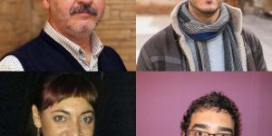 De izquierda a derecha y de arriba a abajo, Luchena, Molinete, Rodríguez y Risco