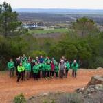 Puertollano: El Club Pozo Norte recorrió en un ruta senderista el Valle de los Escoriales, la Venta de la Inés y el río Tablillas