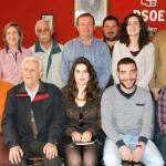 El candidato socialista a la Alcaldía de Calzada de Calatrava, Agustín Bustamante, presenta a su equipo