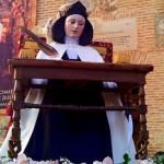 La imagen de Santa Teresa Sentada procesionará por las calles de Malagón