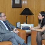 Pilar Zamora se reúne con el Presidente de la Cámara de Comercio