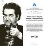 Homenaje (en Madrid) al gran poeta ciudadrealeño Ángel Crespo en el vigésimo aniversario de su muerte