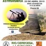 Puertollano: Ruta astrosenderista por Las Lastras con observación del cielo de primavera el 25 de abril