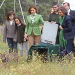 La Reina Doña Sofía y la presidenta Cospedal participan en la suelta de dos linces