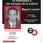 """Manzanares: Miguel Lorente hablará sobre """"el machismo y lastrampas de la cultura"""" en la Escuela de Ciudadanos"""