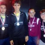 Cuatro medallas del Inmobiliaria Teo Valdepeñas en el campeonato provincial escolar