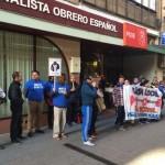 Prosigue el «asedio» policial a la sede del PSOE de Puertollano
