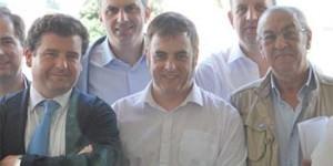 En primera línea de izquierda a derecha: Ricardo Chamorro, Francisco de Asís Pajarón y Jesús Sánchez Crespo