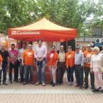 Ciudadanos realiza su segundo acto público en Argamasilla de Calatrava instalando una carpa informativa
