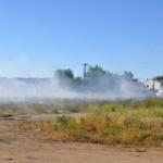 La 'tradicional' quema de rastrojos en San Martín de Porres cubre de humo La Granja