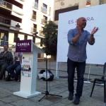 Primer mitin de Podemos en Puertollano: Molina marca las distancias con el PSOE negando cualquier pacto de gobierno