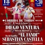 """""""El Fandi"""", Sebastián Castella yDiego Ventura, en una corrida mixta para la feria de Manzanares"""