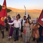 Batalla de Alarcos: Los alcaldes de Ciudad Real y Poblete confraternizan con los combatientes