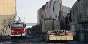 La empresa, tras el incendio declarado el pasado 16 de julio (archivo)