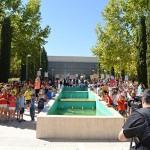 300 chavales de las Escuelas de Verano graban un vídeo musical en el Parque de Gasset