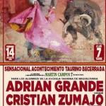 Adrián Grande, Cristian Zumazo, Oscar Avilero y José Ponce torearán el 14 de agosto en Villamayor de Calatrava