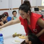 Cruz Roja Juventud imparte un taller de alimentación saludable en la Ludoteca Municipal de Villanueva de los Infantes