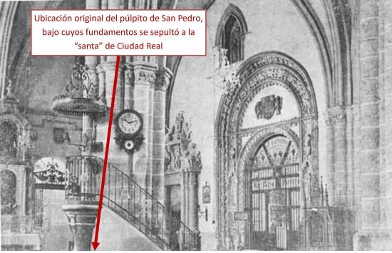 Fotografía antigua del interior de San Pedro [4]