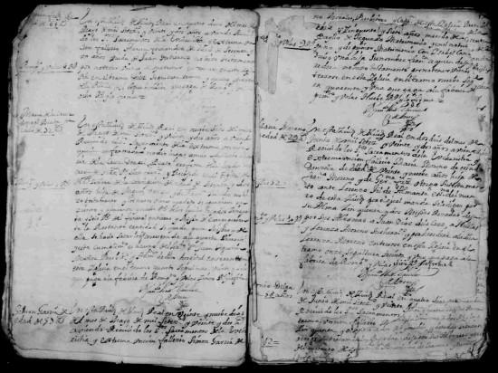 """Libro de defunciones de San Pedro donde figura el registro de defunción de la """"santa"""""""