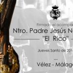 La Agrupación Musical San Miguel Arcángel acompañará a Jesús «El Rico» de Vélez Málaga