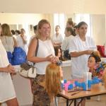 La alcaldesa de Tomelloso visita el taller de empleo de Ayuda a Domicilio