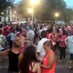 Casi un millar de villarrubieros participan en la Primera Marcha Nocturna Solidaria a favor de la Asociación Española contra el Cáncer