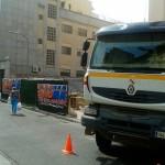 Atasco en la calle Paloma por la avería de un camión