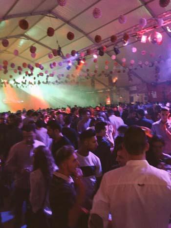 Caseta instalada en las Fiestas de Septiembre de 2015 (archivo)